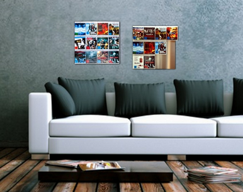 blu ray wand regal bluray cover als wandbild wandregal. Black Bedroom Furniture Sets. Home Design Ideas