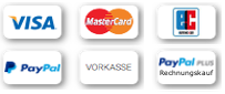 Safe payment with paypal, creditcard, Billsafe