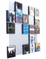 Preview: The picture shows our CD wall shelf CD Wall5x5 in whitealu