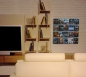 Preview: The picture shows our Wall5x4 DVD wall shelf in the living room next to the flat screen mounted