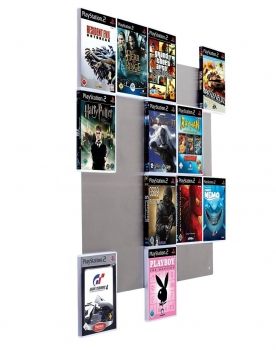 The picture shows our Blu-ray Wall5x4 wall shelf