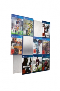 The picture shows our CD-Wall4x3 wall shelf for PS4 games
