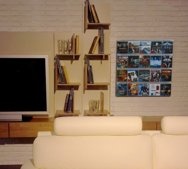 The picture shows our Blu-ray wall mounted shelves in the living room