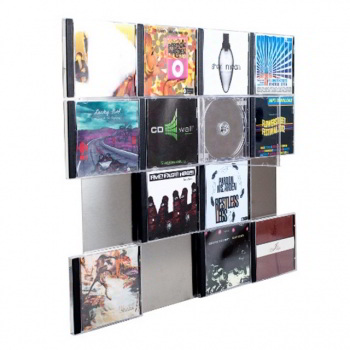 CD-Wall4x4 - CD wall shelf stainless steel