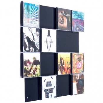 CD-Wall4x4 - CD-Wall shelf in the color white aluminium or greyblack