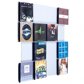 The picture shows our CD-wall CD Wall4x4 in white aluminum