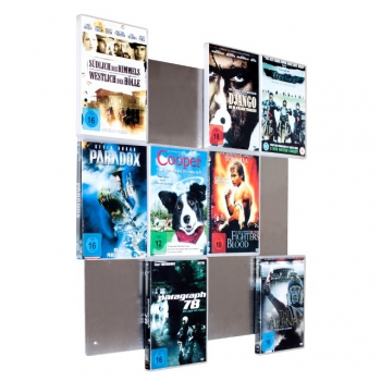 The picture shows a close-up DVD Wall4x3