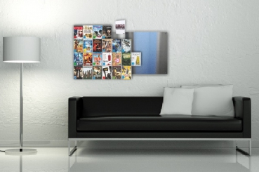 The picture shows our two DVD Wall5x4 wall shelves mounted side by side
