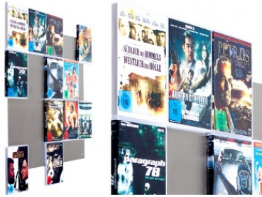 The picture shows our Wall5x4 DVD wall shelf in close-up