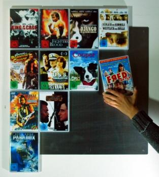 designer cd wandregal cd wall5x5 silber f r cd aufbewahrung cd regal cd wand ebay. Black Bedroom Furniture Sets. Home Design Ideas