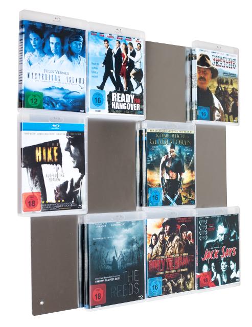BluRay-Wall 4x3 Blu-ray Wandregal