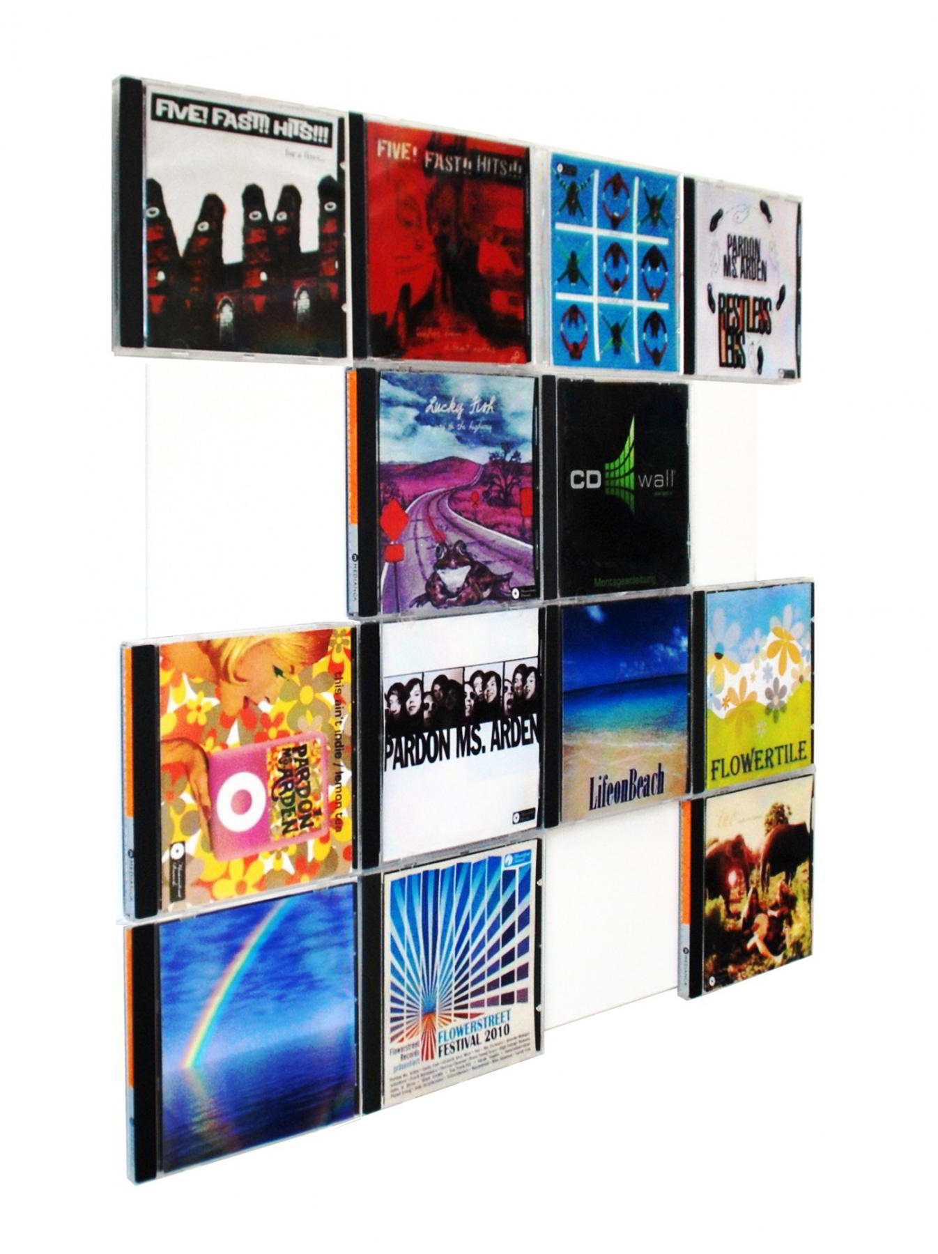 The picture shows our CD-wall CD Wall4x4 in white