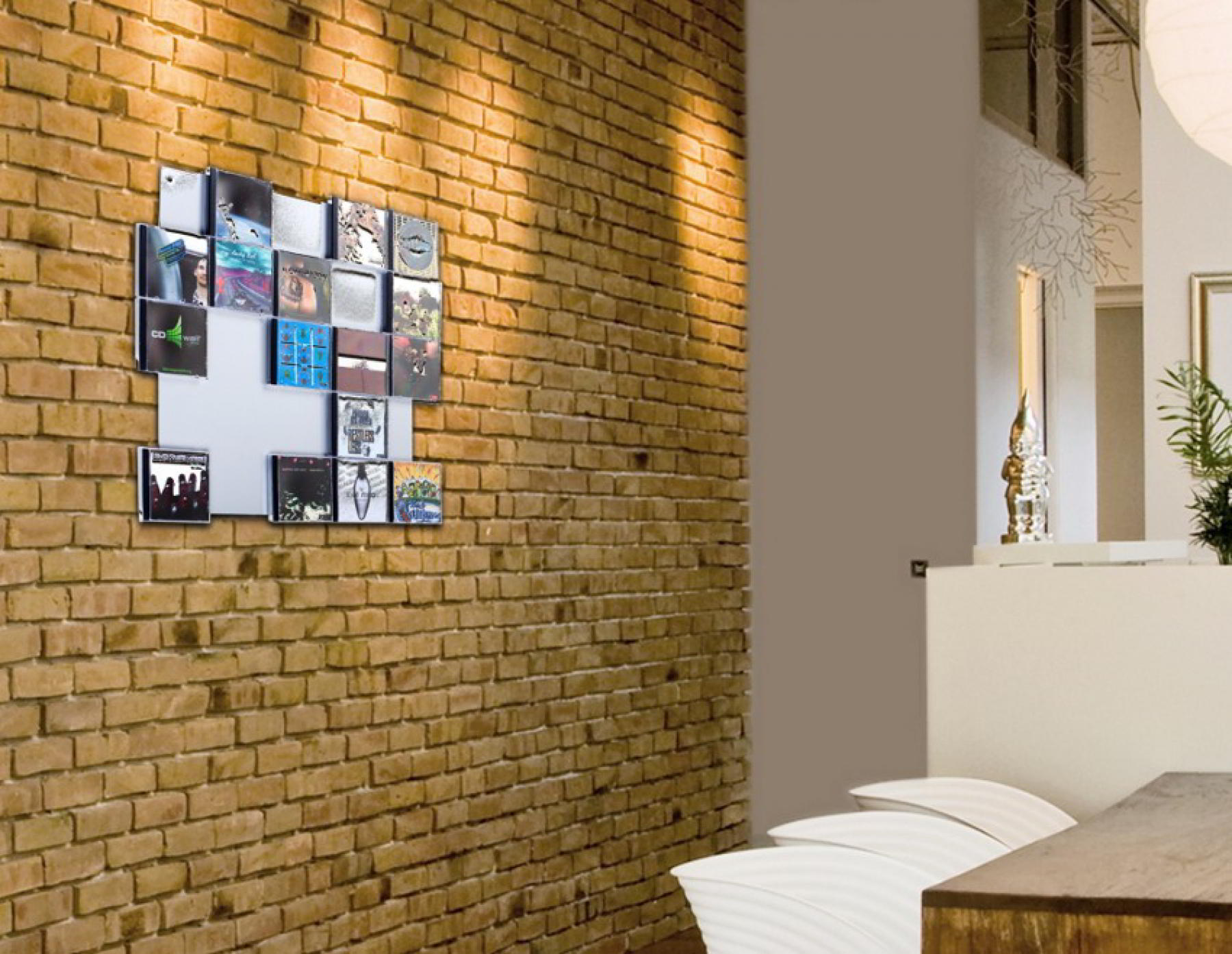 The picture shows ourCD Wall5x5 wall in close up