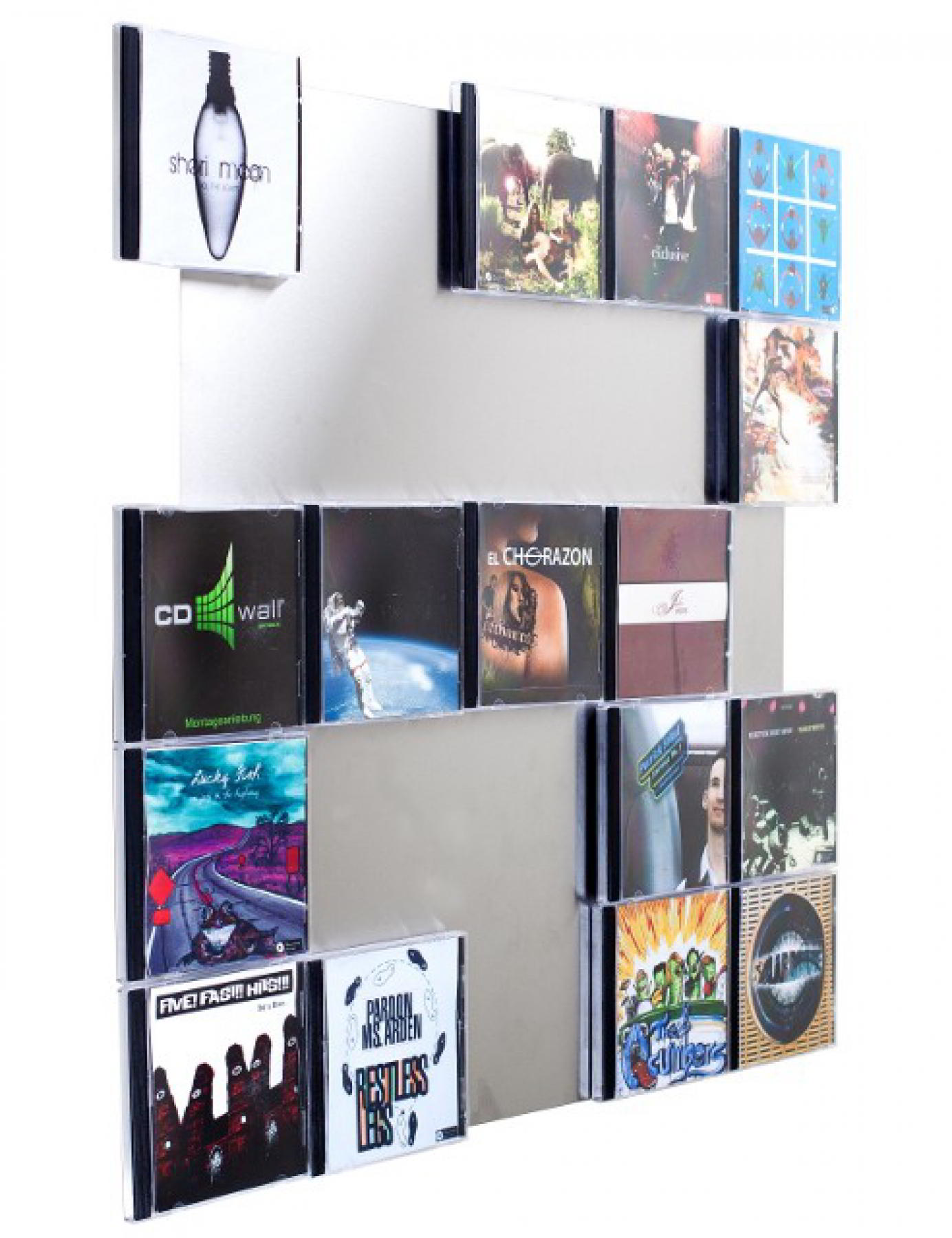 The picture shows our CD-Wall shelf CD Wall5x5